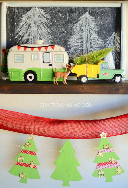 Wood Christmas Tree Garland