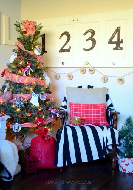 Rustic Woodland Christmas Tree