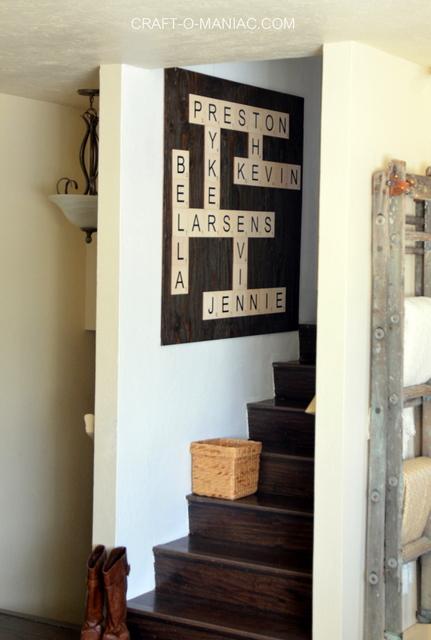 Diy Scrabble Wall Art Craft O Maniac