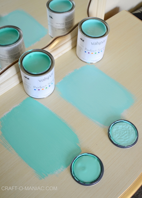 Dresser Paint Swatch Choices