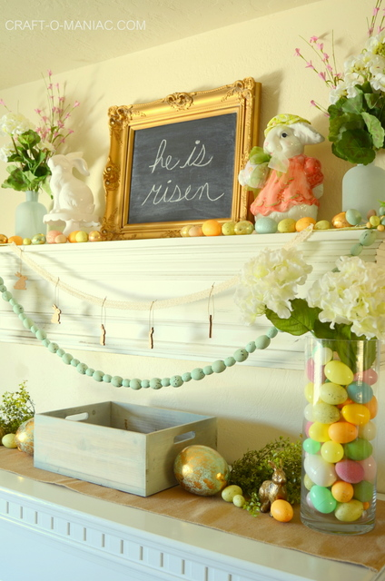 Easter Living Room Decor 2016 Craft O Maniac