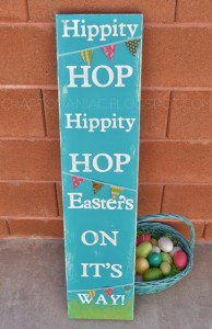 DIY Easter Hippity Hop Sign
