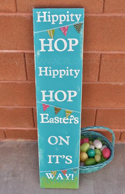 DIY Easter Hippity Hop Sign
