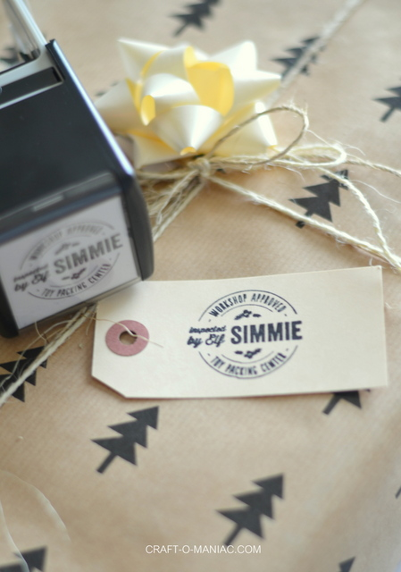 "Christmas Gift Wrap ""Personal Stamp"""