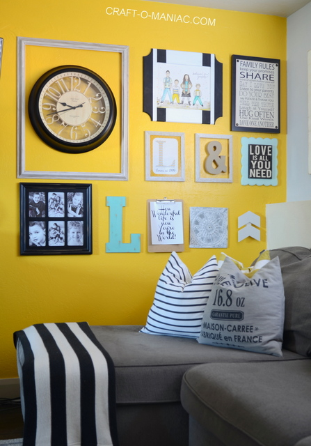 Family Room Paint Color and Gallery Wall