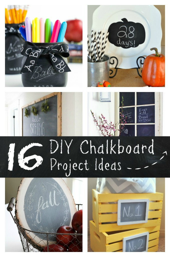 16 DIY Chalkboard Project Ideas