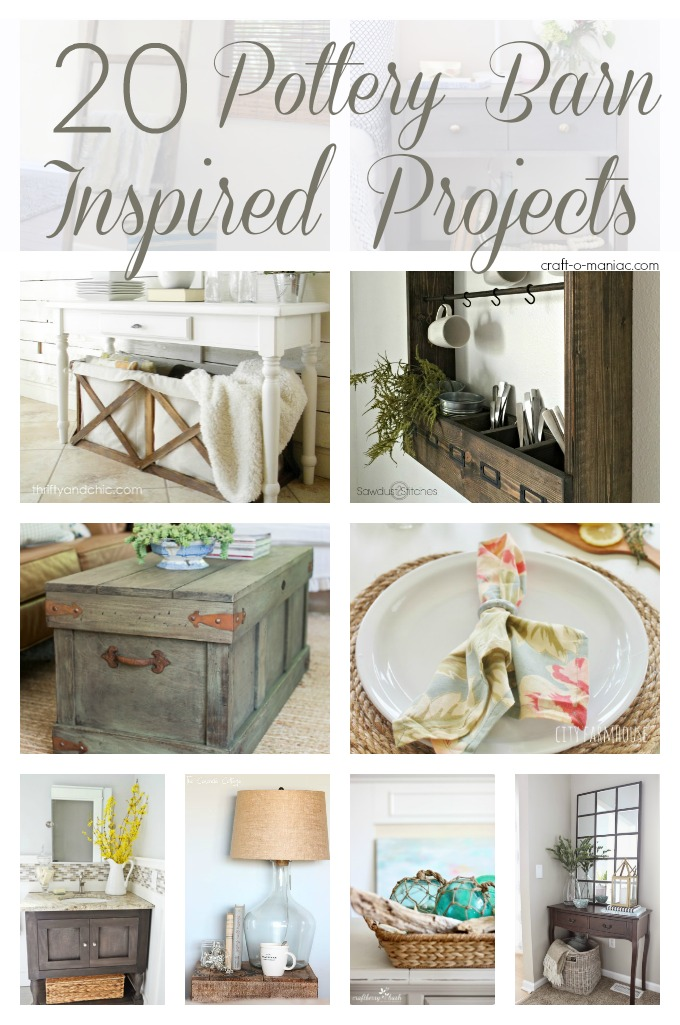 20 Pottery Barn Inspired Projects Craft O Maniac