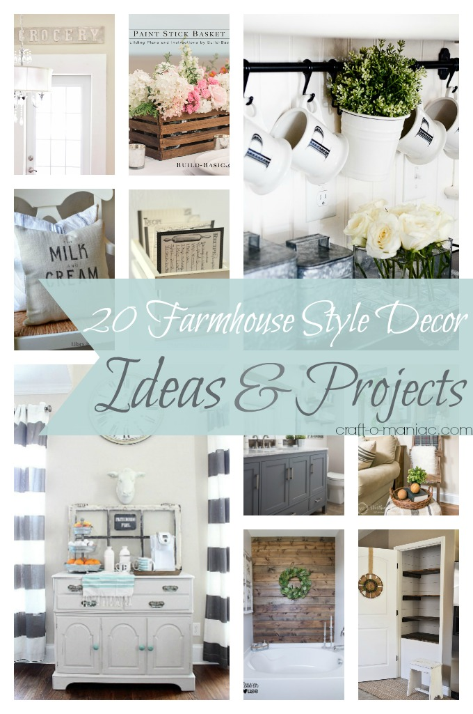 20 Farmhouse Style Decor Ideas & Projects - Craft-O-Maniac