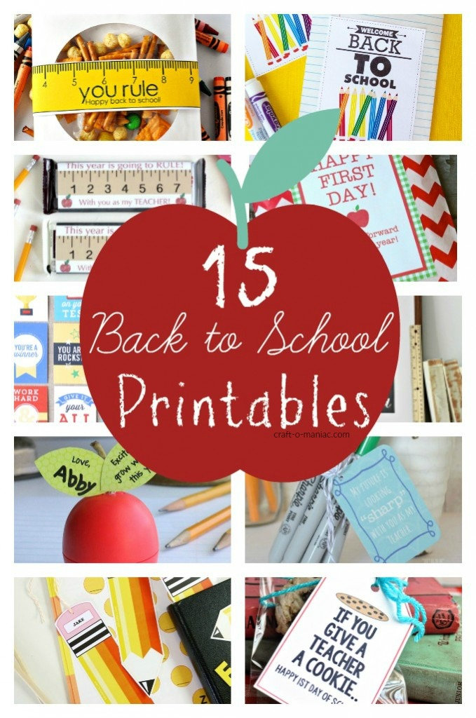 15 Back to School Printables