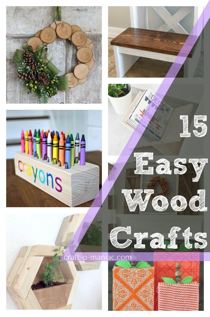 15 Easy Wood Crafts Craft O Maniac