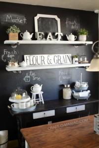 Farm Kitchen Chalkboard Painted Wall