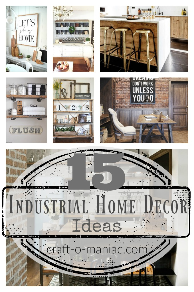 15 industrial home decor ideas craft o maniac 1000 ideas for home design and decoration