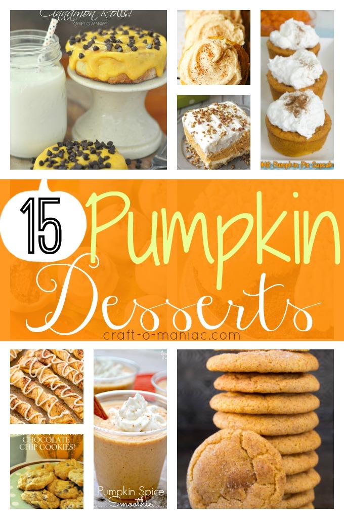 15 Pumpkin Desserts