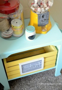 Chalk Painted Turquoise Side Table