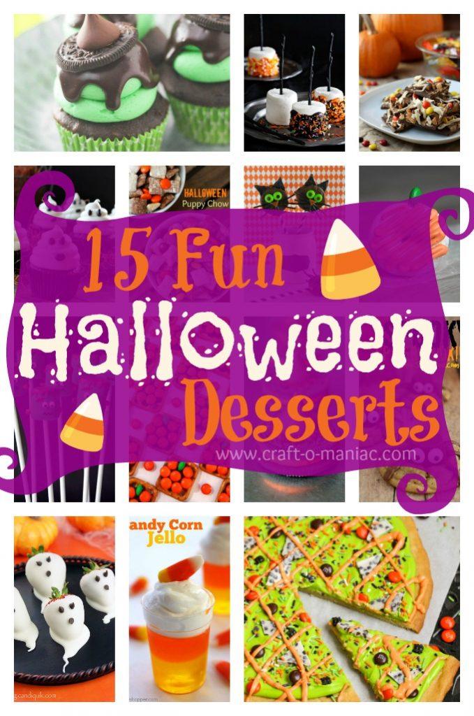 15 Fun Halloween Desserts