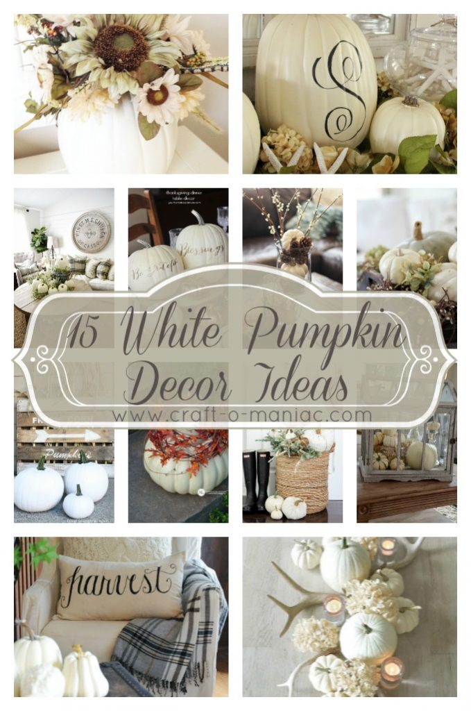 15 White Pumpkin Decor Ideas