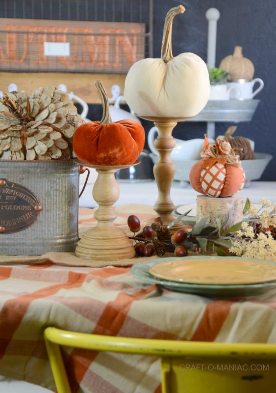 Fall Decor Kitchen Tablescape