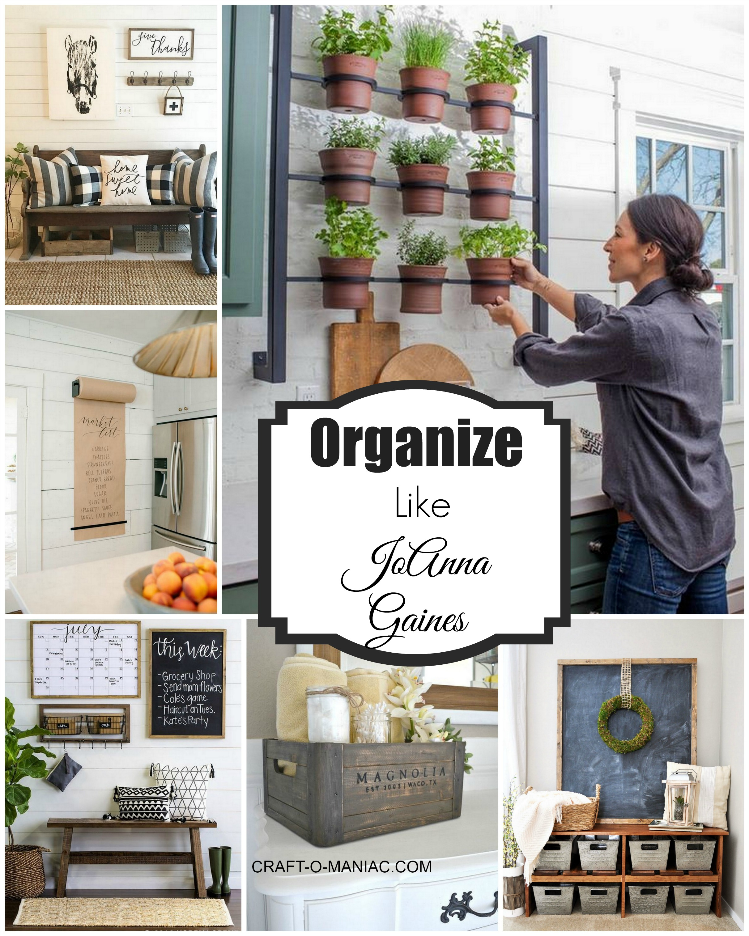 Organize your home like joanna gaines craft o maniac Organizing your home