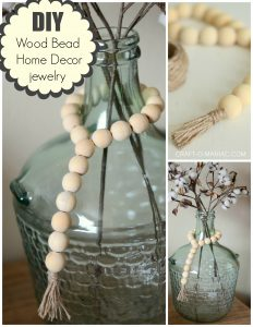 DIY Wood Bead Home Decor Jewelry