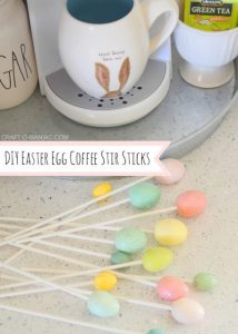 DIY Easter Egg Coffee Stir Sticks