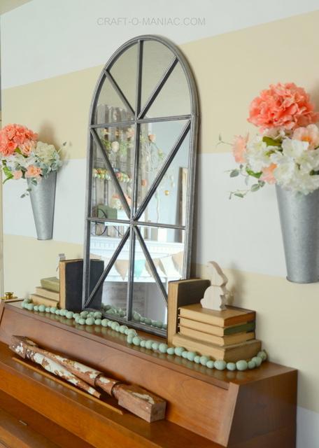 spring and easter living room decor2017  craftomaniac