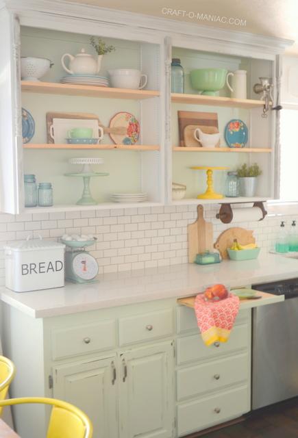 Colorful Vintage & Cottage Inspired Kitchen Makeover