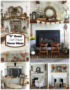 """8"" Great Fall Mantel Decor Ideas"