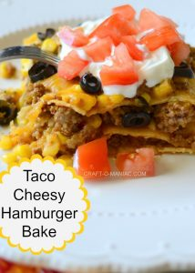 Cheesy Taco Hamburger Bake