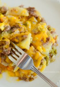 Scalloped Potato Cheesy Hamburger Bake