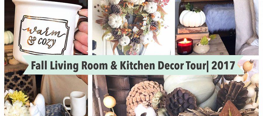 Fall Living Room & Kitchen Decor Tour| 2017