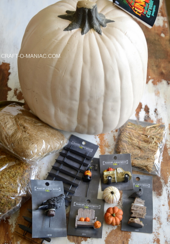 DIY Fairy Graveyard Faux Pumpkin