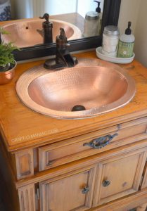 DIY Bathroom Vanity Plus Makeover