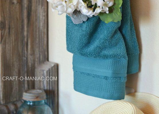 DIY Sewn Towel Pocket Used Three Ways