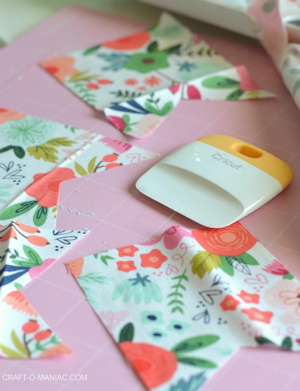Cricut Maker Simple Fabric Bunting - Craft-O-Maniac