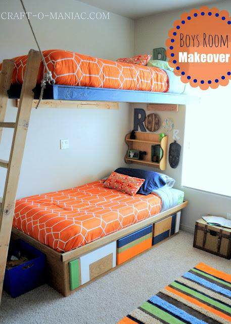 Boys Bedroom Makeover Reveal