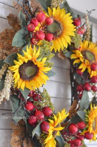 Fall Sunflower Entry Way Decor