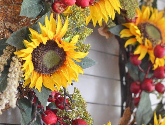 Fall Sunflower Entry Way Decor