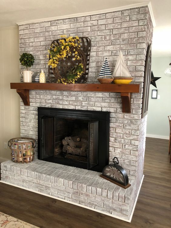 The Top Color Ideas For Painting A Brick Fireplace Craft O Maniac