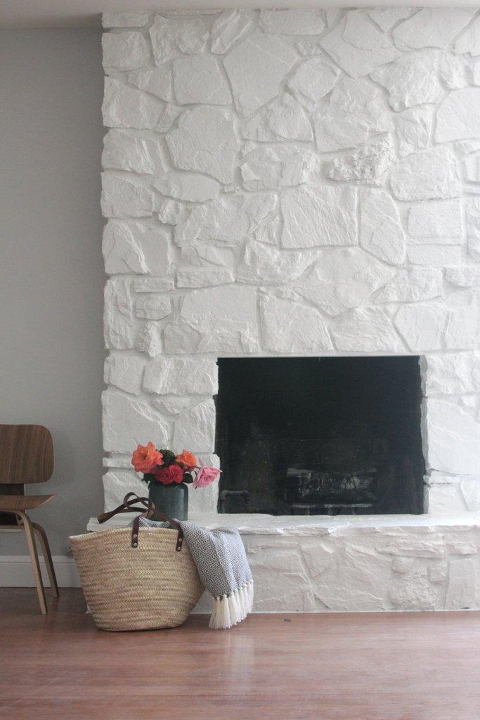 How To Paint A Stone Fireplace On A Budget Craft O Maniac
